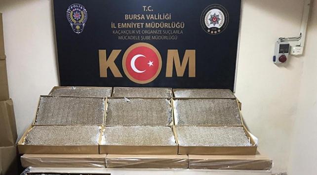 Bursada 750 bin adet dolu makaron yakalandı