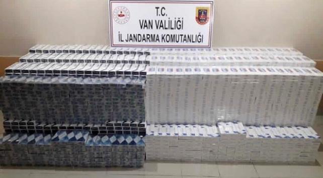 Başkalede 38 bin 750 paket kaçak sigara ele geçirildi