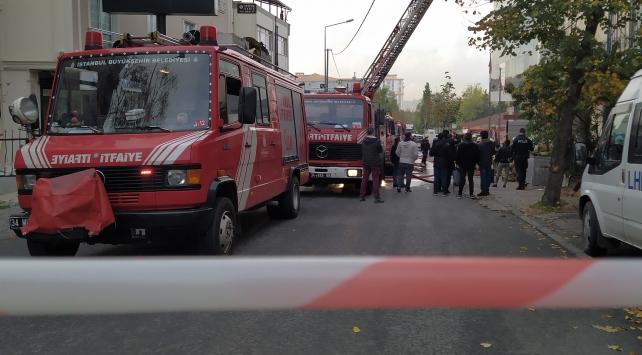 İstanbulda tekstil atölyesinde yangın