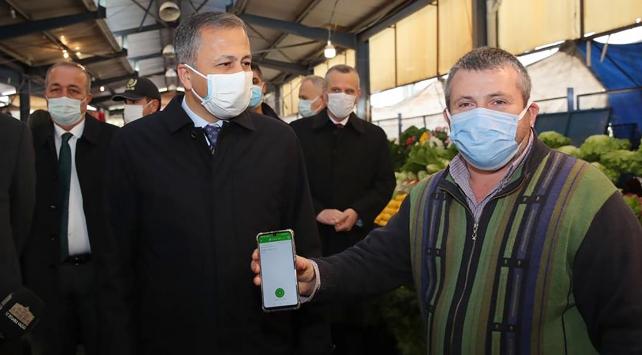 İstanbul Valisi Yerlikayadan pazarda HES kodu denetimi