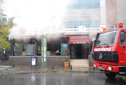 Ataşehirde iş yeri yangını