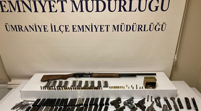 İstanbulda yasa dışı silah operasyonu