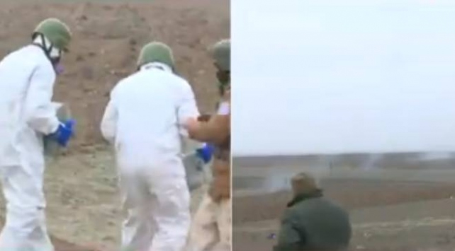 Ermenistanın Füzuliye attığı fosfor bombası etkisiz hale getirildi