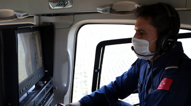 Hatayda helikopterle denetim: 50 sürücüye 9 bin 784 lira ceza