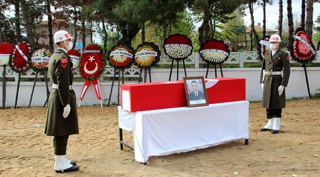 Şehit Yarbay Rafet Sayın Edirnede son yolculuğuna uğurlandı