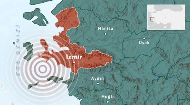 İzmirde artçı sarsıntılar sürüyor