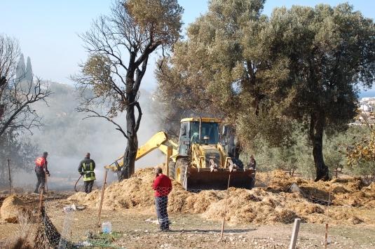 Aydında çiftlikteki yangın hasara neden oldu