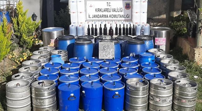 Kırklarelinde 2 bin litre kaçak içki ele geçirildi