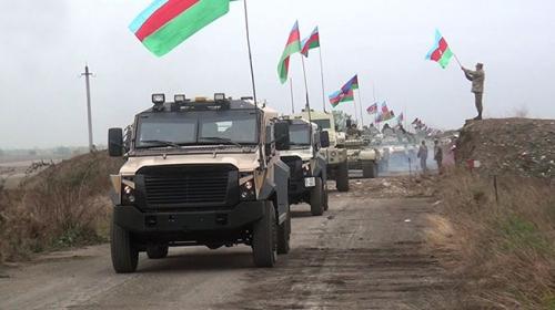 Azerbaycan ordusu Ağdam'da