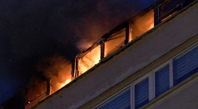 Şişlide iş merkezinde yangın