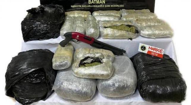 Batmanda 44 kilogram uyuşturucu ele geçirildi