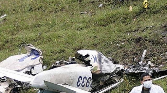 Almanyada uçak düştü: 1 ölü