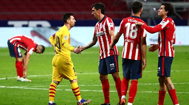 Atletico Madrid, Barcelonayı eli boş uğurladı