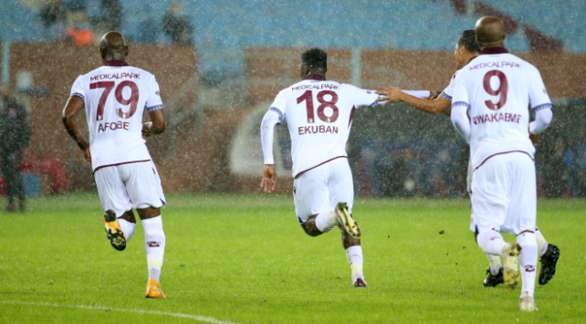 Trabzonsporun galibiyet hasreti sona erdi