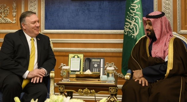 ABD Dışişleri Bakanı Pompeo, Muhammed bin Selman ile görüştü