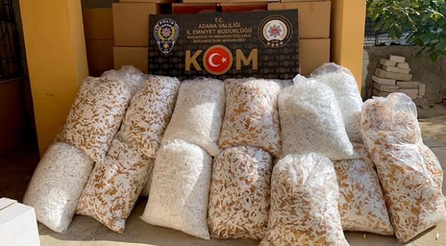Adanada gümrük kaçağı 3 milyon 60 bin makaron ele geçirildi