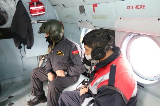 Muğlada helikopter destekli trafik denetimi