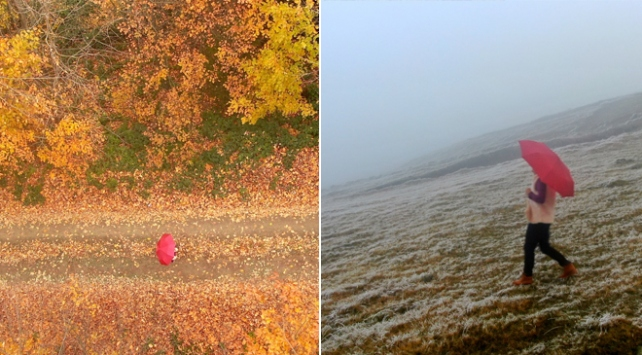 Düzcede sonbahar ve kış bir arada yaşanıyor