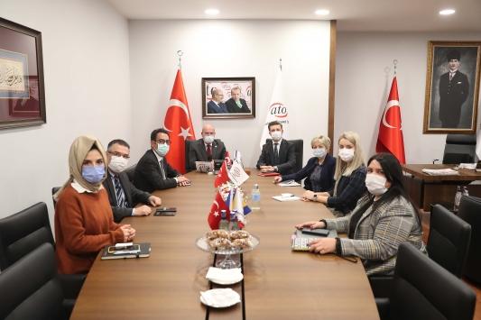 Bosna Hersek Büyükelçisi Alagiç, ATO Başkanı Baranı ziyaret etti