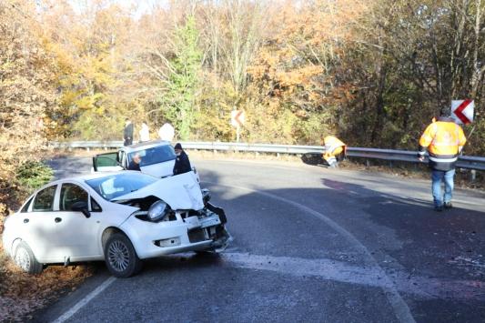 Boluda büyükbaş hayvan yüklü kamyonet ile otomobil çarpıştı: 5 yaralı