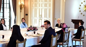 Emine Erdoğan, öğretmenlerle bir araya geldi