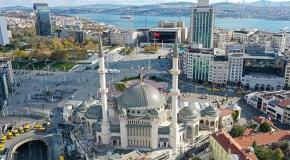 Taksim'e yapılan cami ramazanda ibadete açılacak