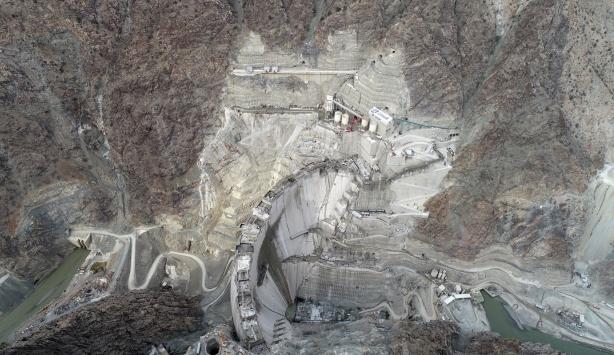 Yusufeli Barajının gövde yüksekliği 250 metreye ulaştı