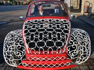 Karabükte İlginç Bir Tasarım: Ferforje Otomobil