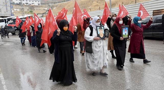 Şırnakta terör mağduru aileler HDP önünde eylem yapmayı sürdürüyor