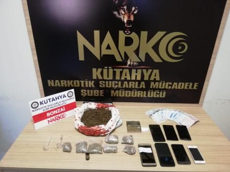 Kütahyada uyuşturucu operasyonunda 7 şüpheli yakalandı