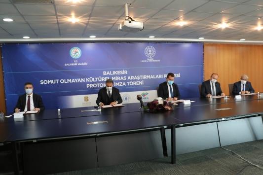 """Balıkesirde """"Somut Olmayan Kültürel Miras Araştırmaları Projesi"""" için tanıtım ve imza töreni yapıldı"""