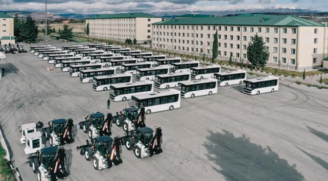 MSBden Gürcistan ordusuna iş makinesi ve otobüs desteği