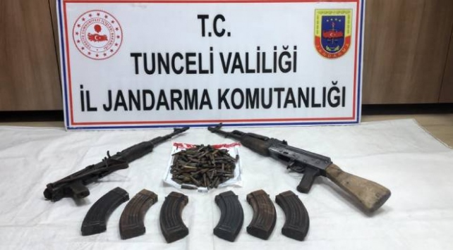 Tuncelide teröristlerin kullandığı sığınaklar imha edildi