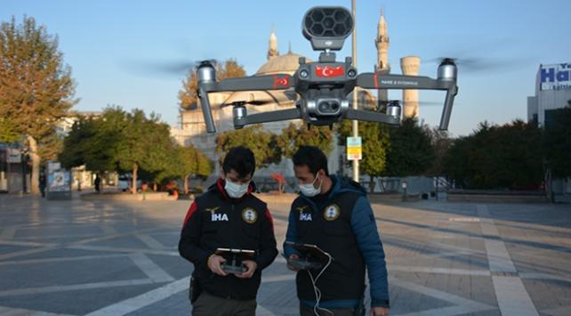 Malatyada kısıtlamayı drone ile denetlediler