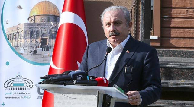 TBMM Başkanı Şentop: Sadece Kudüs davasına değil, kendi inançlarına ihanet ediyorlar
