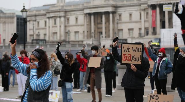 Fransadaki güvenlik yasa tasarısı ve polis şiddeti İngilterede protesto edildi