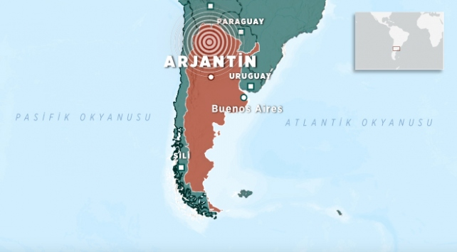Arjantinde 5,8 büyüklüğünde deprem
