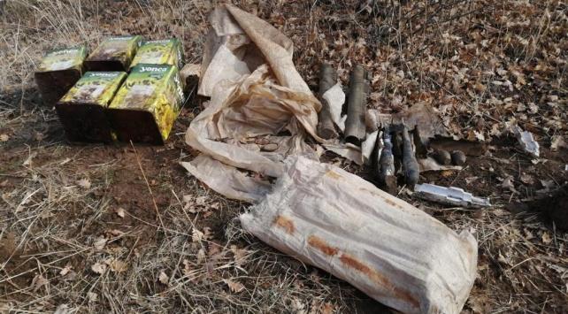 Bitliste teröristlere ait lav silahı ile mühimmat ele geçirildi