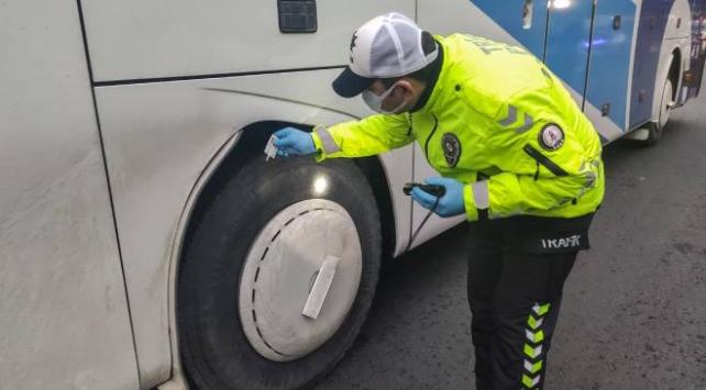 İstanbulda kış lastiği denetimi yapıldı