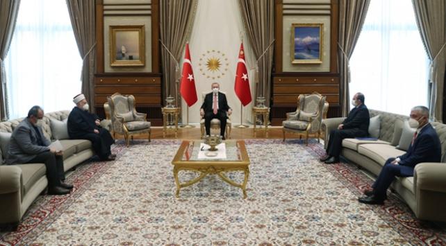 Cumhurbaşkanı Erdoğan Mescid-i Aksa imamını kabul etti