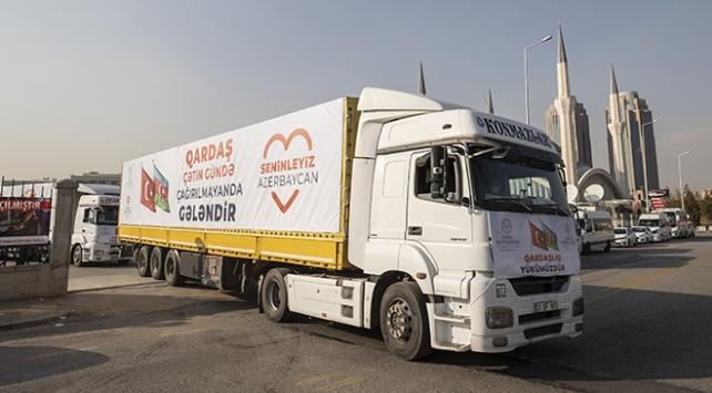 TDV, Azerbaycana 6 tır insani yardım gönderdi