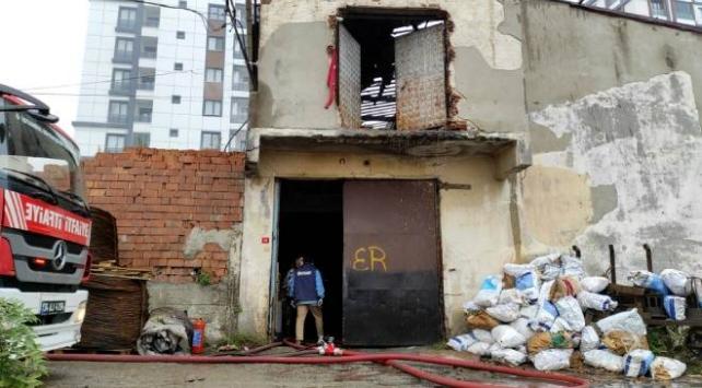 İstanbulda fabrika yangını