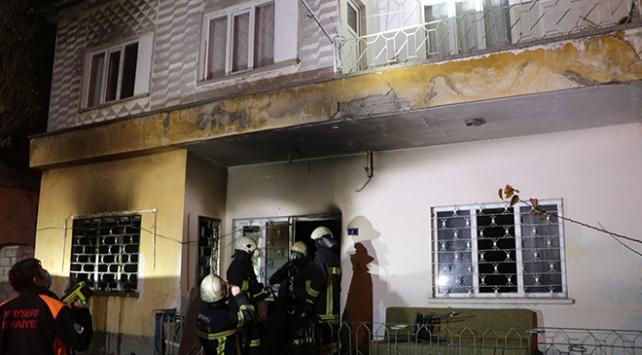 Kayseride soba yangını: Ev kullanılamaz hale geldi