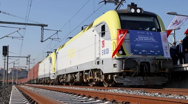 Türkiyeden Çine gidecek ilk ihracat treni yola çıktı