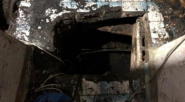 Evin altını kaçak kömür ocağına çevirmişler
