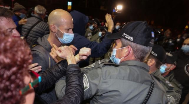 Netanyahu karşıtı gösterilerde 27 kişi gözaltına alındı