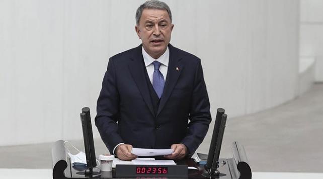 Bakan Akar: Akdenizde gerilimi tırmandırmak isteyen Yunanistandır