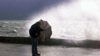 Trabzon'da fırtına ve yağış etkili oldu