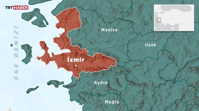 İzmirde 3,6 büyüklüğünde deprem