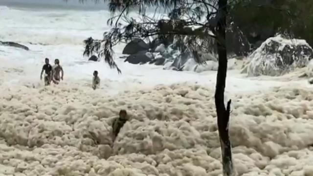 Avustralya sahillerini deniz köpüğü kapladı